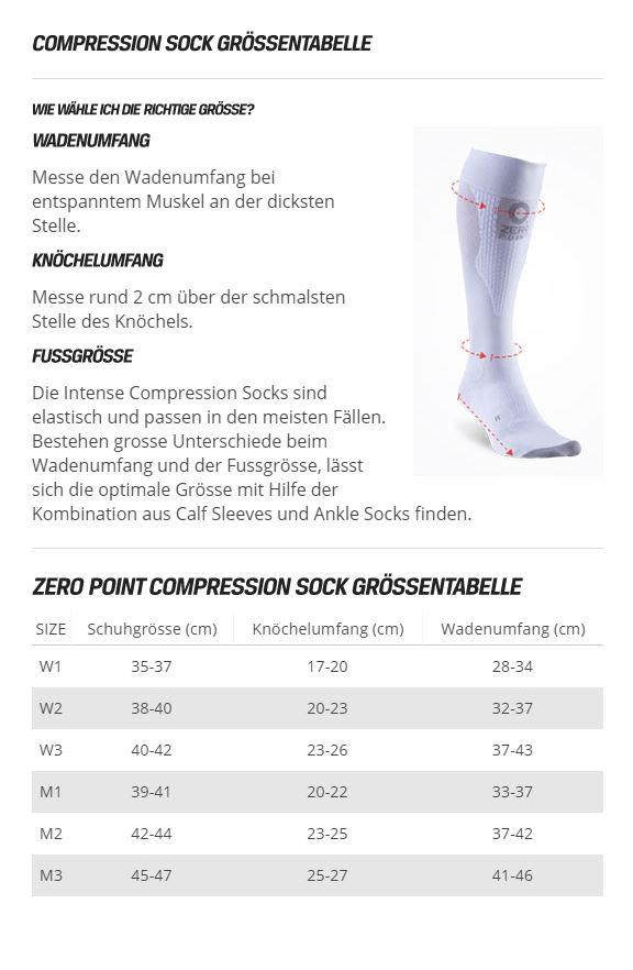 Zero Point Intense Compression Socks Men black