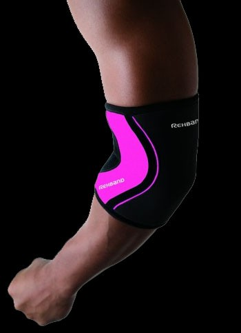Rehband Ellbogenbandage RX Crossfit schwarz-pink